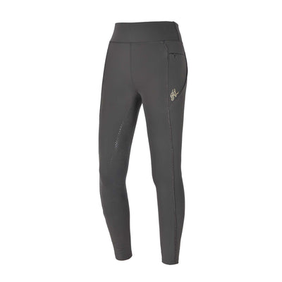 Kingsland KLkatinka Winter Damentrainingsreithose/ Reitleggings, Full-Grip, F-Tec2, green black inc