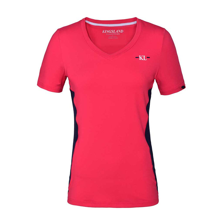 Kingsland KLjaslyn Trainingsshirt mit V-Ausschnitt Damen, red