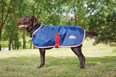 WeatherBeeta Windbreaker 420D Hundemantel II NAVY/RED/WHITE, Fleecefüllung