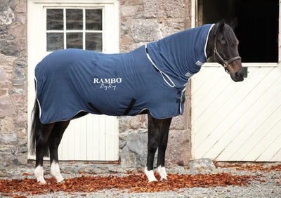Horseware Abschwitzdecke Rambo Dry Rug, navy/silver