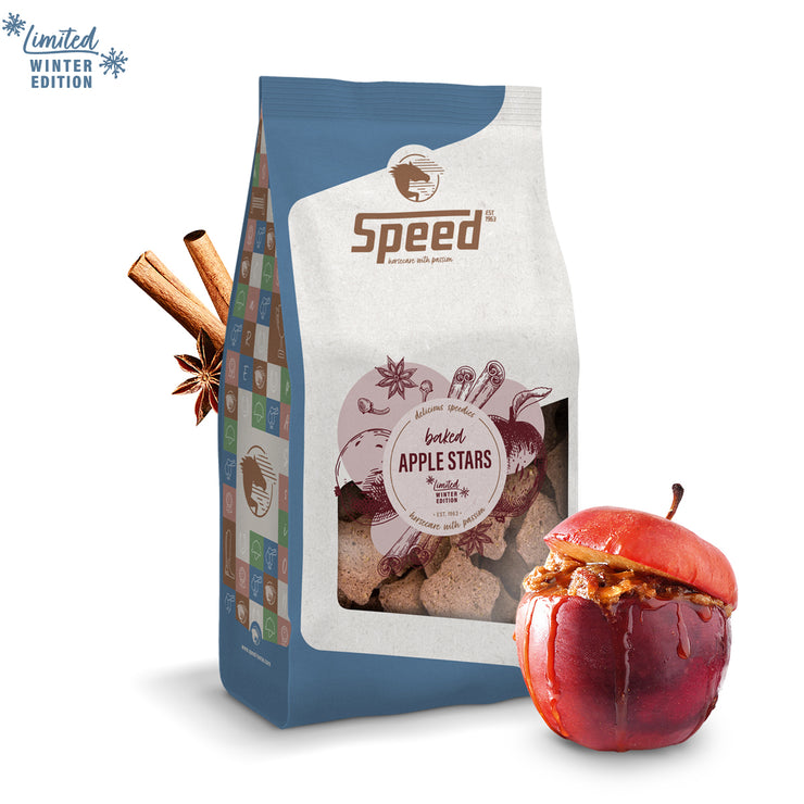 Speed Leckerli delicious speedies BAKED APPLE STARS, 0,6KG