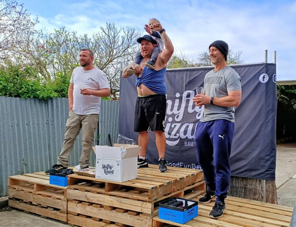 Dad Olympics Podium finish at Mclaren Vale Brewery Shifty Lizard