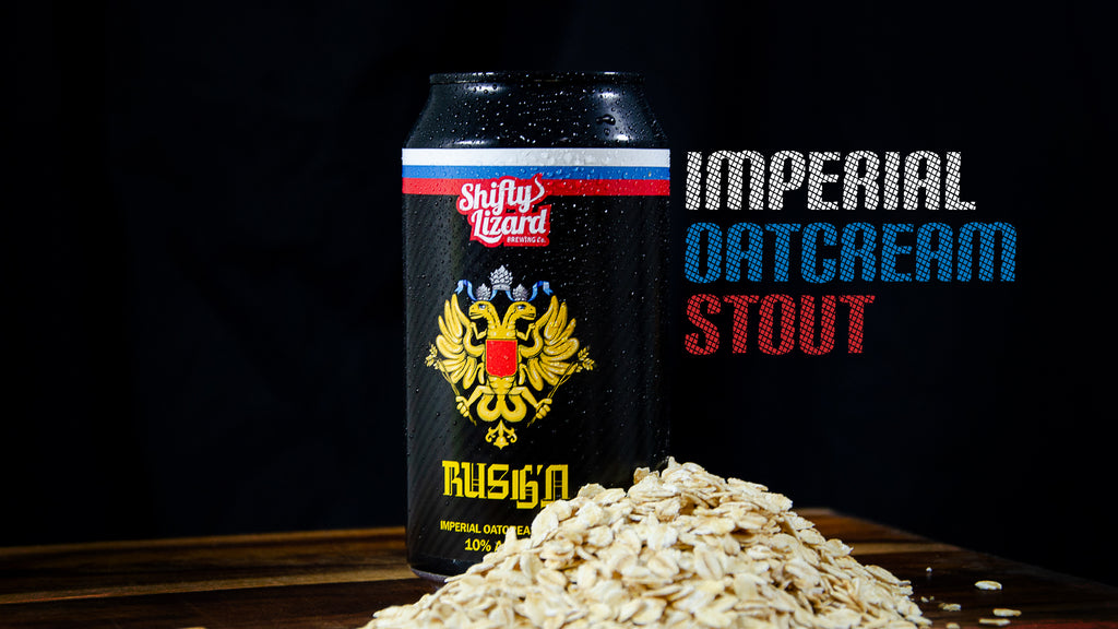 Imperial Oatcream Stout by SA brewery Shifty Lizard Brewing