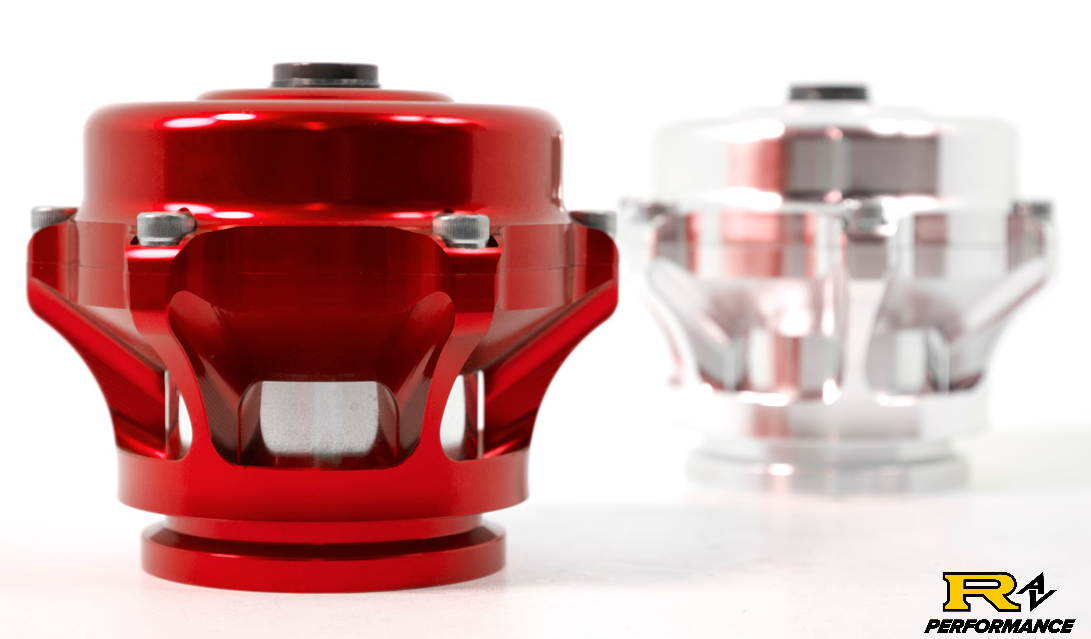 Tial Q BOV 50mm Blow Off Valve with Aluminum Flange, 6psi Spring, and Red Housing  QBOV-Red-6psi-AL