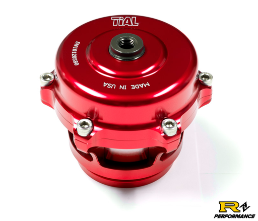 Tial Q BOV 50mm Blow Off Valve with Aluminum Flange, 11psi Spring, and Red Housing  QBOV-Red-11psi-AL