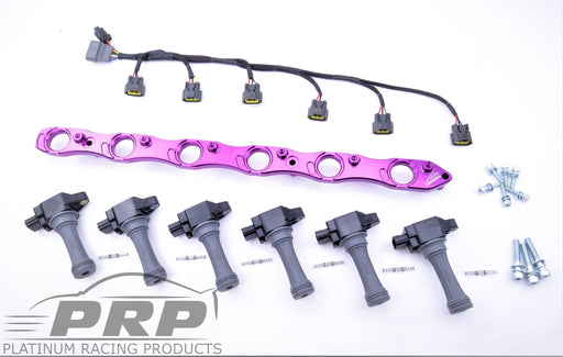 PRP R32 GTR RB26 R35 Complete Coil Bracket Kit With Loom