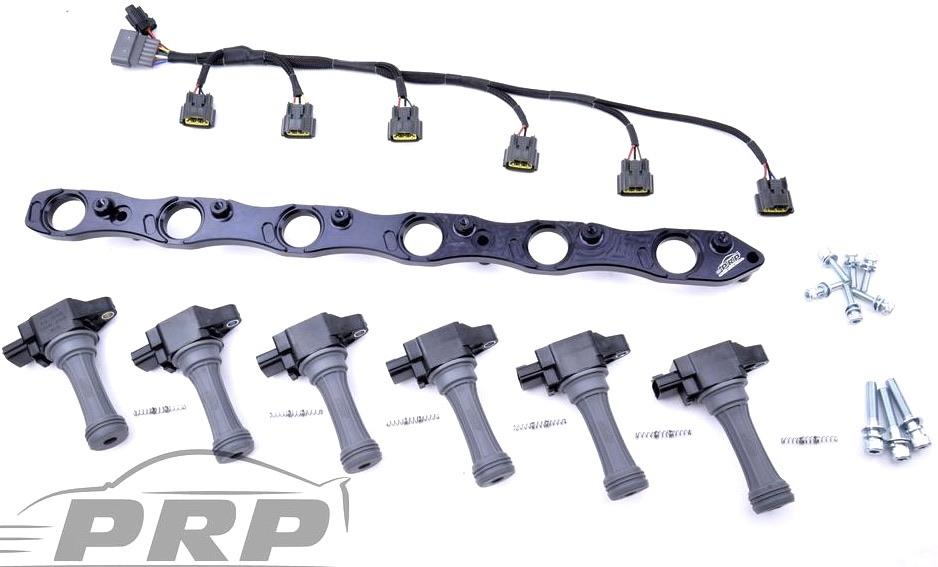 PRP RB25 NEO R35 Complete Coil Bracket Kit With Loom