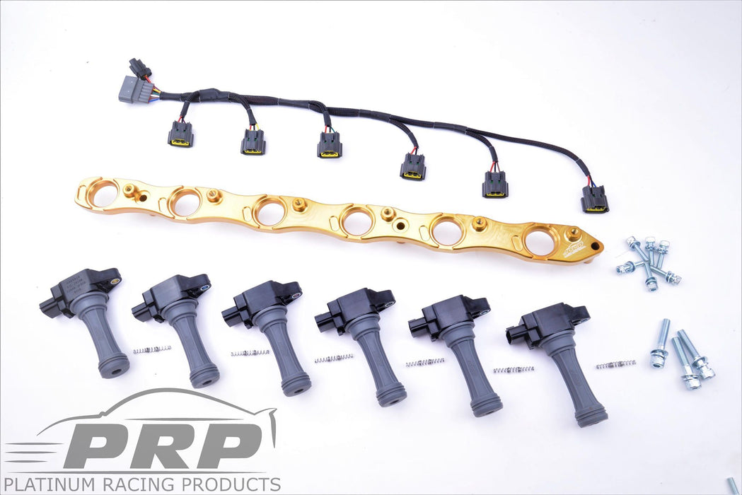 PRP RB25 R35 Complete Coil Bracket Kit With Loom