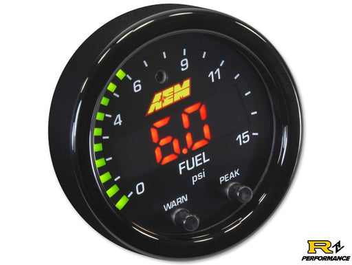 AEM X-Series Universal 15PSI Boost and Fuel Pressure Gauge 30-0309