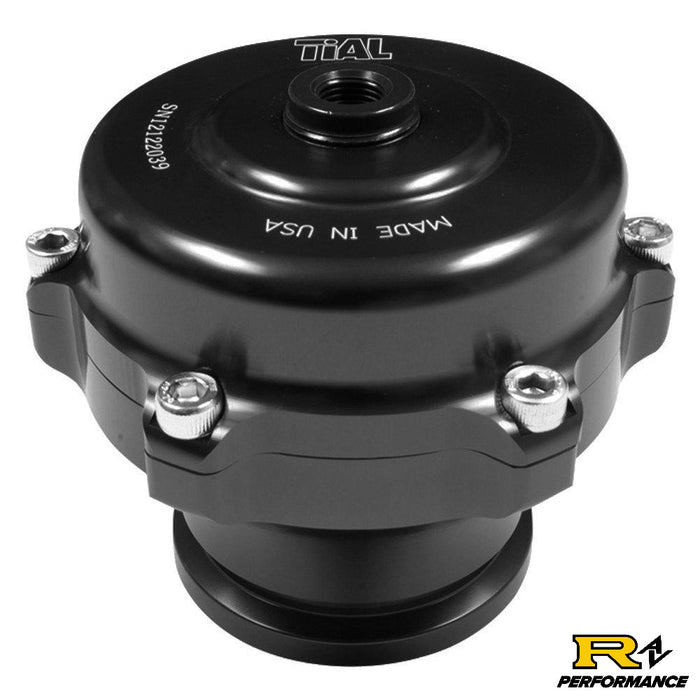 Tial Q BOV 50mm Blow Off Valve with Aluminum Flange, 10psi Spring, and Black Housing  QBOV-Black-10psi-AL