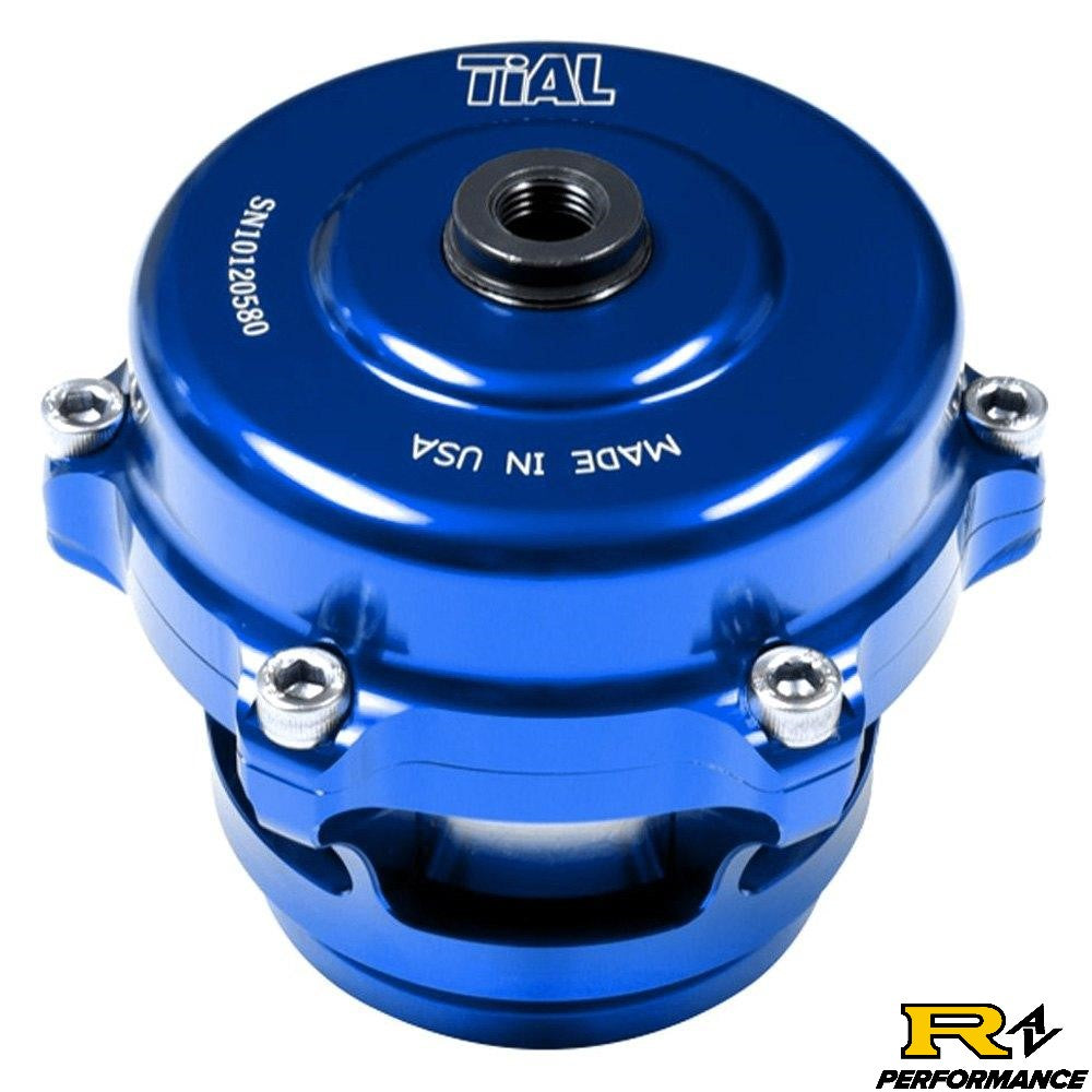 Tial Q BOV 50mm Blow Off Valve with Aluminum Flange, 10psi Spring, and Blue Housing  QBOV-Blue-10psi-AL