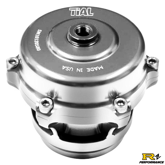 Tial Q BOV 50mm Blow Off Valve with Aluminum Flange, 6psi Spring, and Silver Housing  QBOV-Silver-6psi-AL