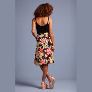 Serena Button Skirt- Carioca