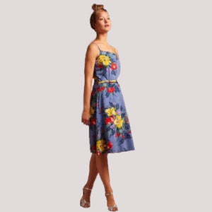 Summer Betty Dress- River Blue