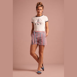 Roisin Shorts- Bellarina stripe