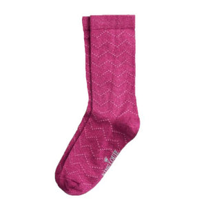 Bamboo Short Socks- Cherise Red