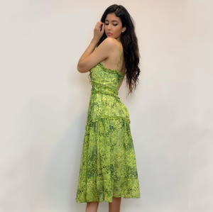 Vogue dress- Chartreuse