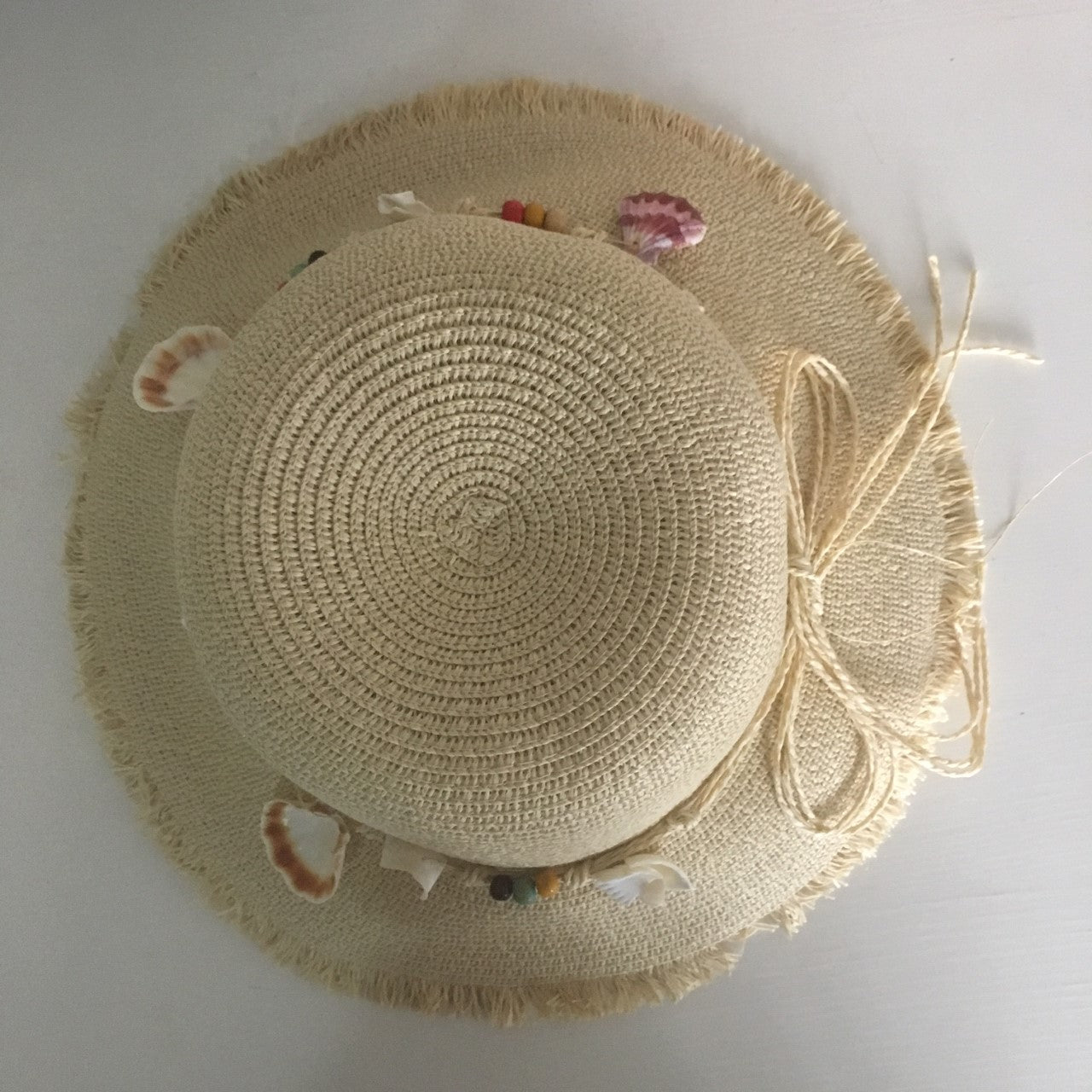 Straw beach hat- Natural