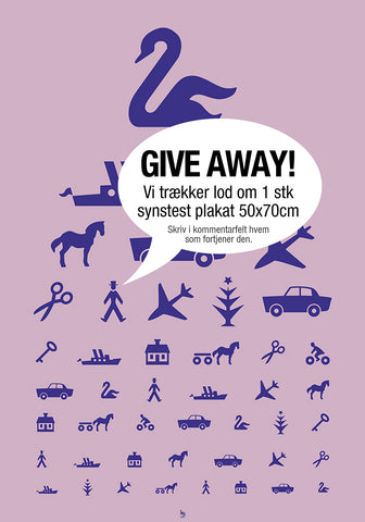 "Facebook Plakat ""Synstest Give Away"""