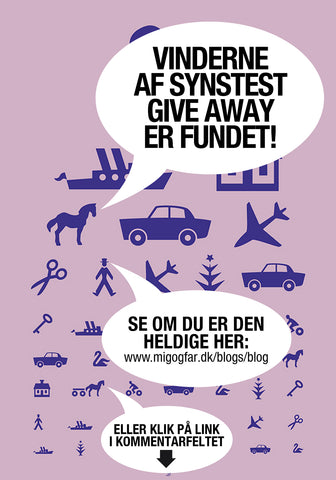 "Vinderen af Facebook Plakat ""Synstest Give Away"""