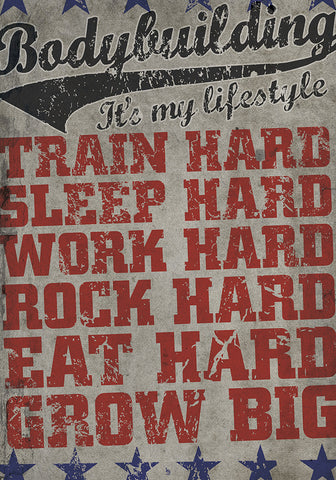 Bodybuilding Statement Plakat, Bodybuilding Is My Lifestyle