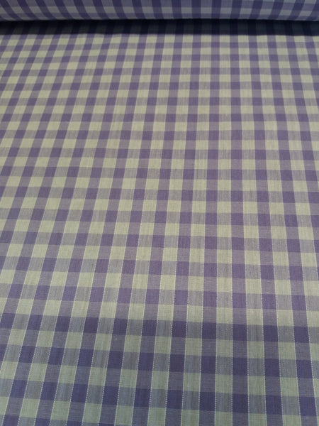 lilac gingham polycotton