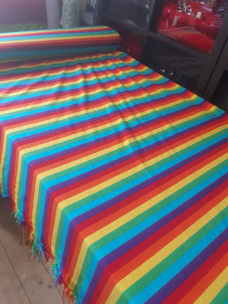 rainbow yarn dyed stripe jersey
