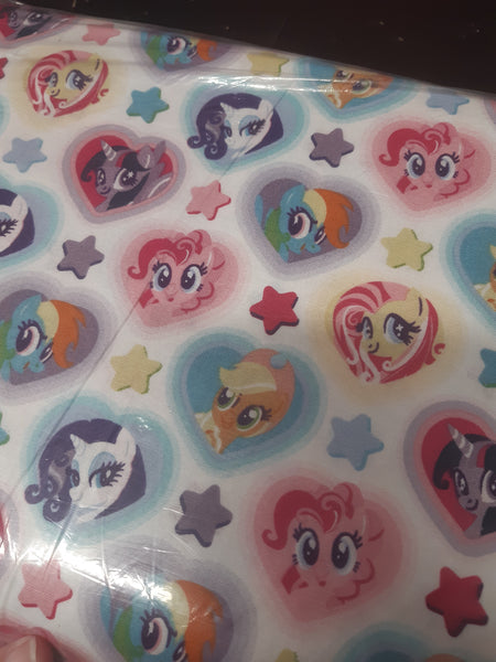 my little pony hearts woven cotton