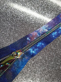 galaxy rainbow continuous zipper tape