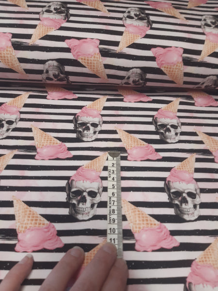 Cone head skull French terry