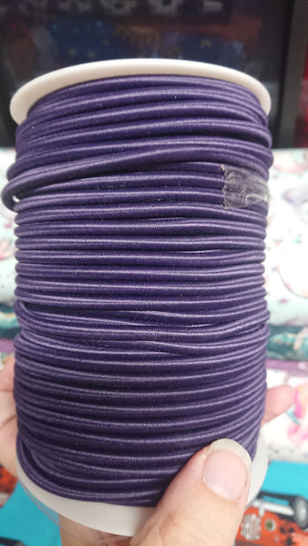 Purple elastic cord