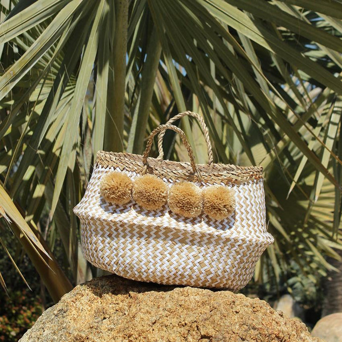 BORREGO X BORNEO No. 1 - Woven Straw Basket Bag