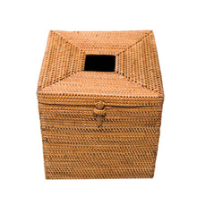 Load image into Gallery viewer, HONEY RATTAN TISSUE BOX