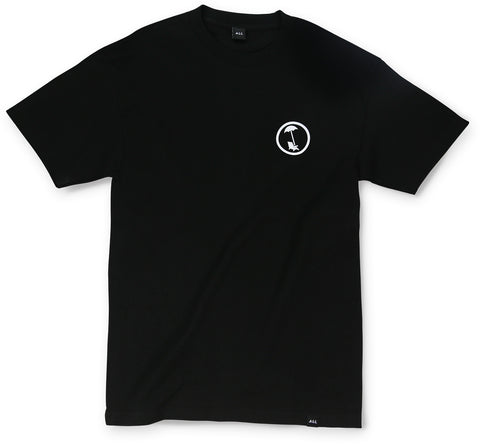 BEACHY LOGO TEE IN BLACK