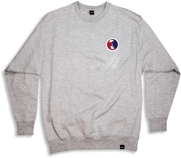BEACHY SPLIT  CREWNECK IN ATHLETIC HEATHER