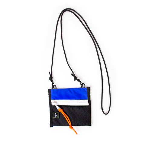 A.L.L® Mini Pouch  BLUE/BLACK  WHITE ZIPPER