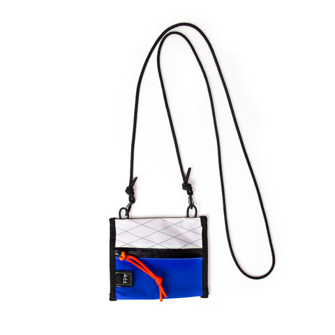 A.L.L® Mini Pouch   WHITE XPAC / BLUE GORE-TEX WATERPROOF ZIPPER