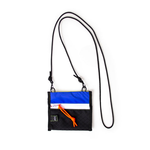 A.L.L® Mini Pouch   BLUE GORE-TEX / BLACK RIPSTOP  WHITE ZIPPER