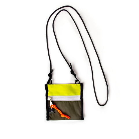 A.L.L® Mini Pouch  NEON OLIVE WHITE ZIPPER