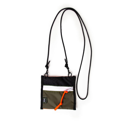 A.L.L® Mini Pouch  BLACK OLIVE WHITE ZIPPER