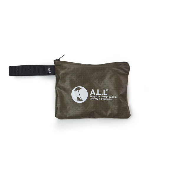ALL DROP.03  RIPSTOP STASH POUCH OLIVE
