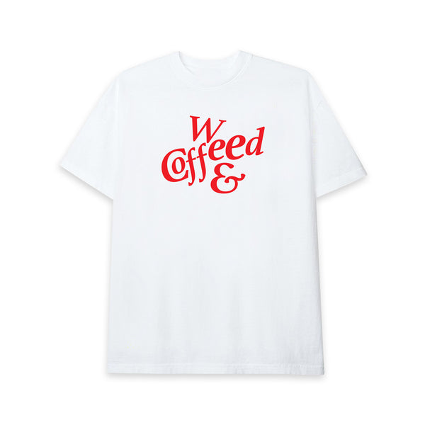 COFFEE & WEED TEE IN WHITE
