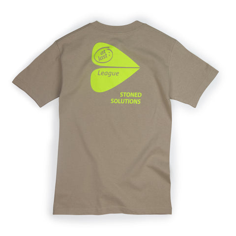 STONED SOLUTIONS TEE IN SAND