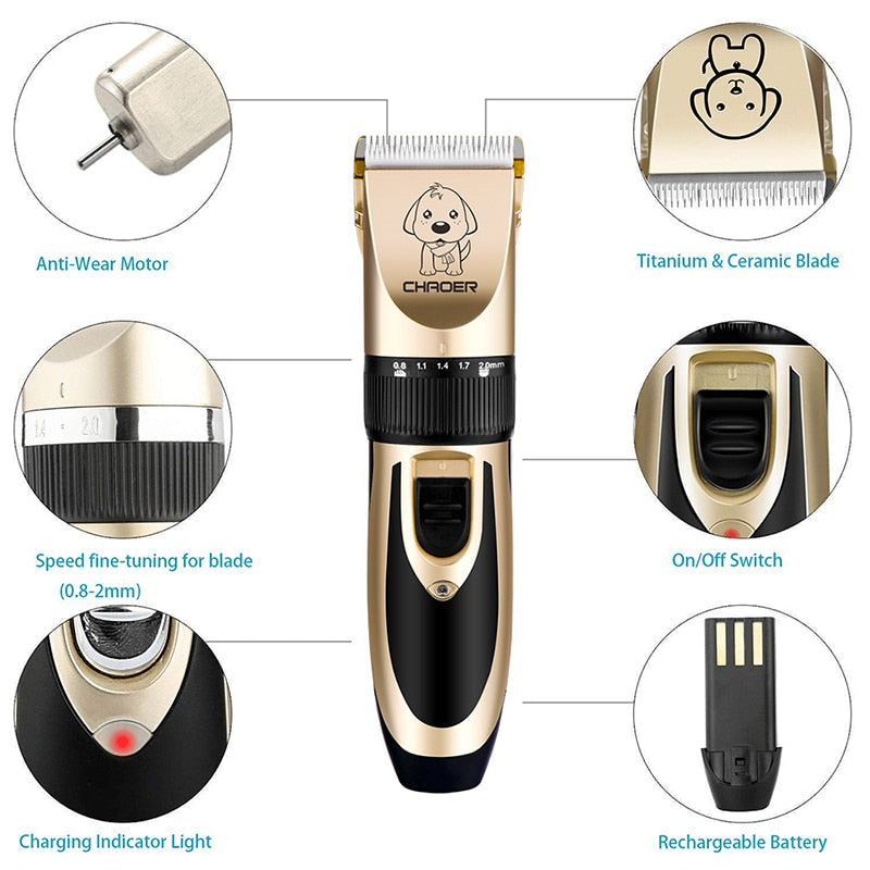 Pet Dog Groomer Rechargeable Hair Trimmer