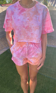 CROPPED T-SHIRT/SHORT SET