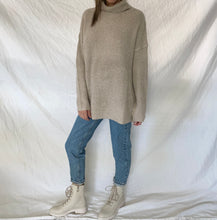 Load image into Gallery viewer, OPEN BACK TURTLENECK SWEATER