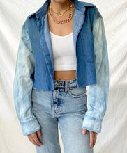 Load image into Gallery viewer, CROPPED DENIM SHIRT