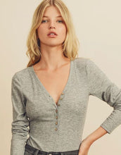 Load image into Gallery viewer, V-NECK LONG SLEEVE BODYSUIT