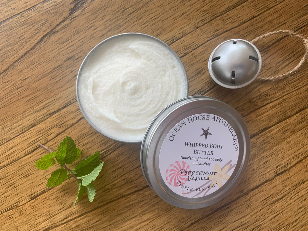 Limited Edition Peppermint Vanilla Whipped Body Butter