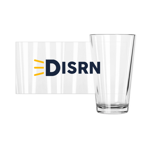 Disrn Pint Glass- 16 oz.